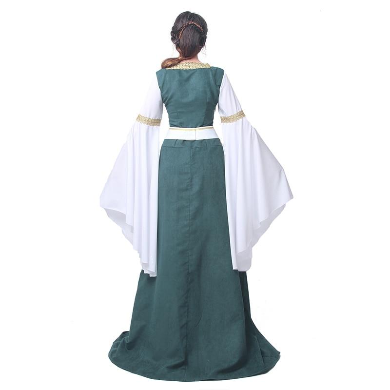 ROLECOS Mujeres Vestidos Retro Europeos Ropa Renacentista Medieval - Disfraces - foto 3