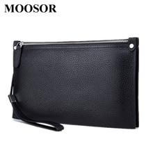 2017 New Arrival Fashion Men Bags Genuine Leather Long Men Day Clutches High Quality Men Handbag