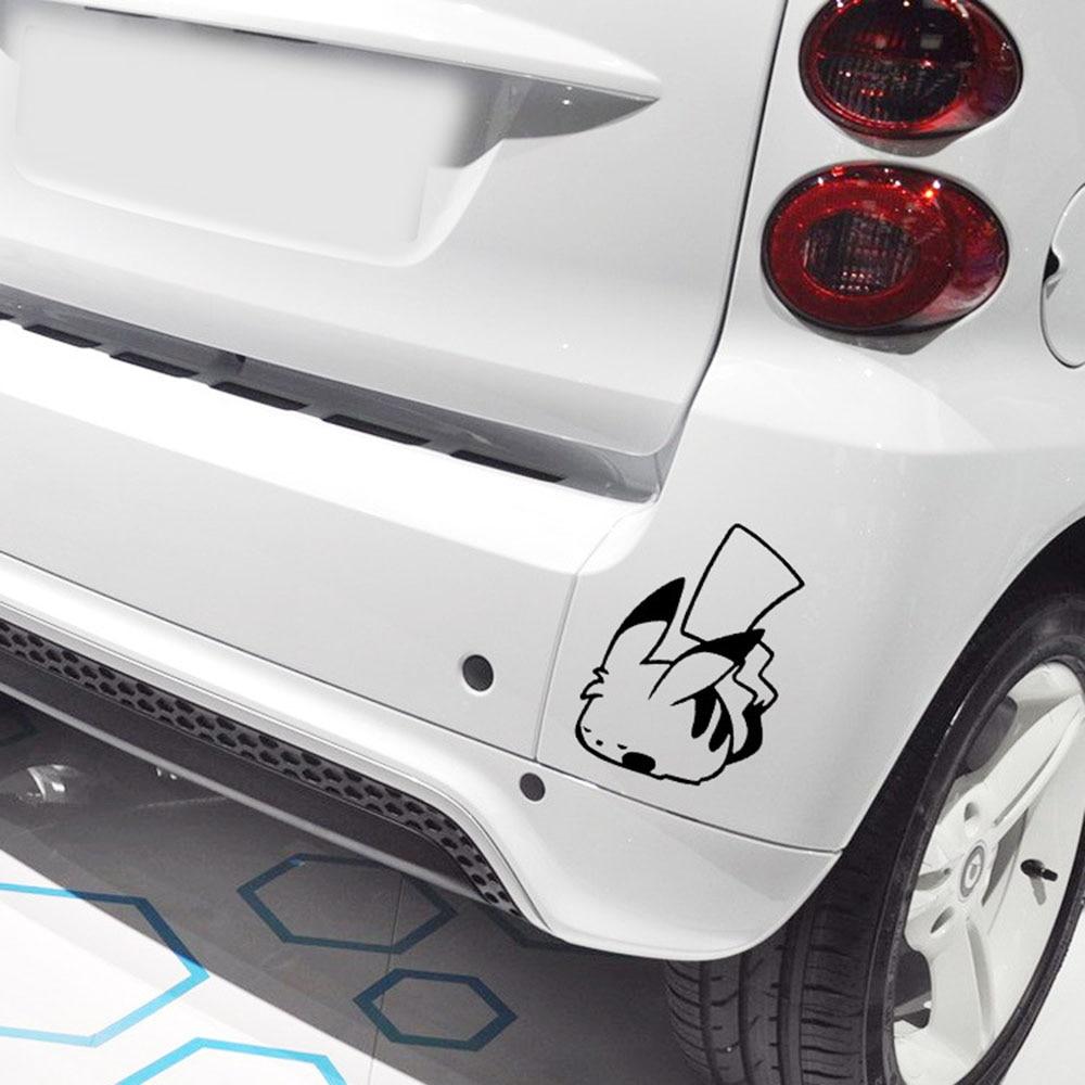 Покемон Пикачу спальный Забавный автомобиль Стикеры милый мультфильм наклейка для Volkswagen Мужские поло Skoda golft Mercedes Smart Fortwo Kia Opel