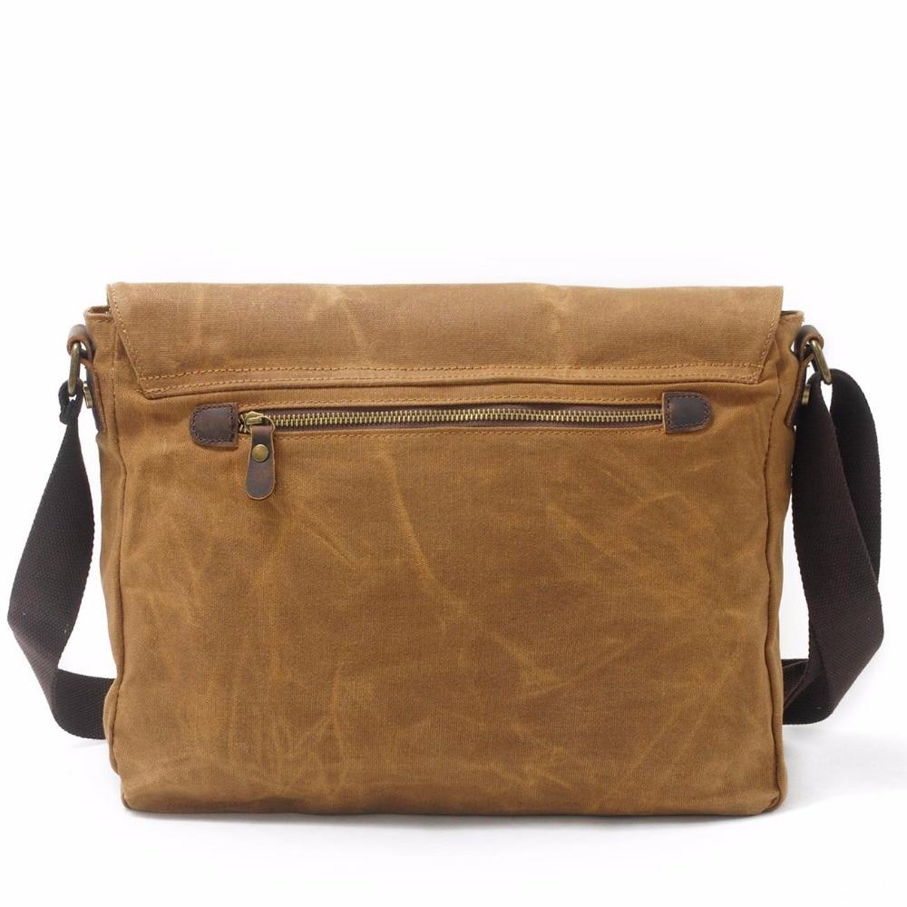 525da1213c8 Redswan Designer Brand casual Vintage Canvas Leather bags Crossbody Bag  Shoulder Messenger Bag waxed canvas bag -in Crossbody Bags from Luggage    Bags on ...