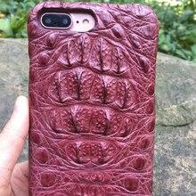 Природный головы крокодила кожного покрова для iphone 7 4.7 »genuine крокодиловой кожи телефон case для iphone7 плюс 5.5 »бесплатная доставка