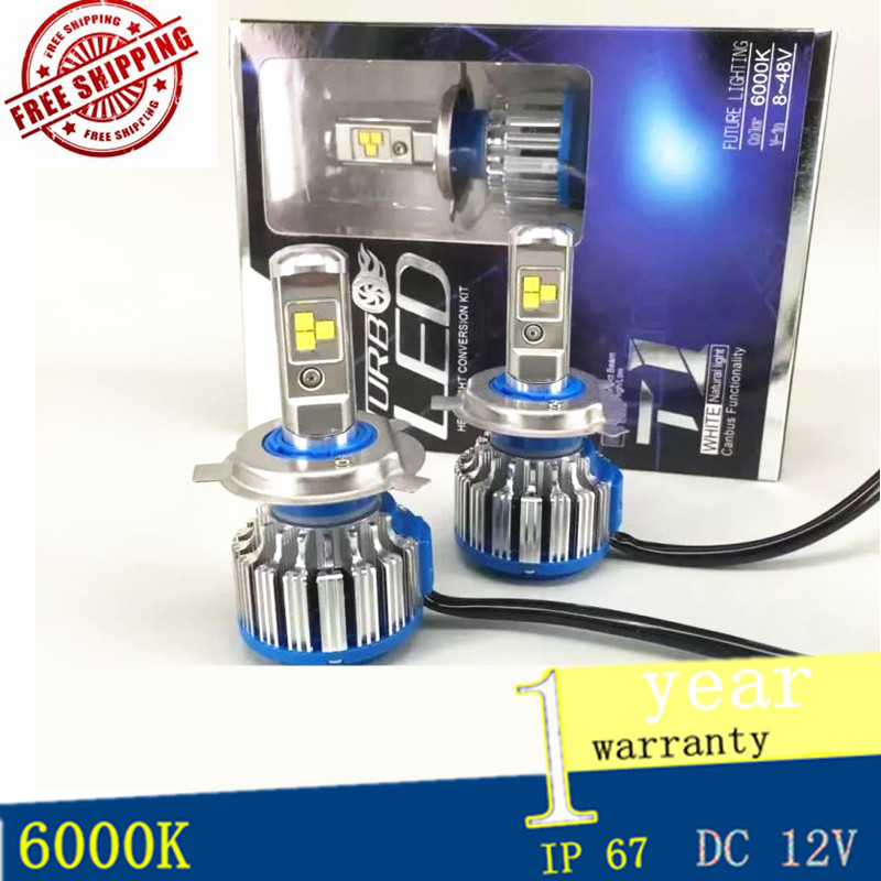 Led Auto Headlamp 9004 HB1 80W 8000LM/set High Low Beam Turbo Leds Car Headlight DRL Main Light 6000K White Light Bulbs one set 9004 cree led headlight conversion kit high low beam hb2 auto car moto car styling led headlamp driving lamp bulbs white