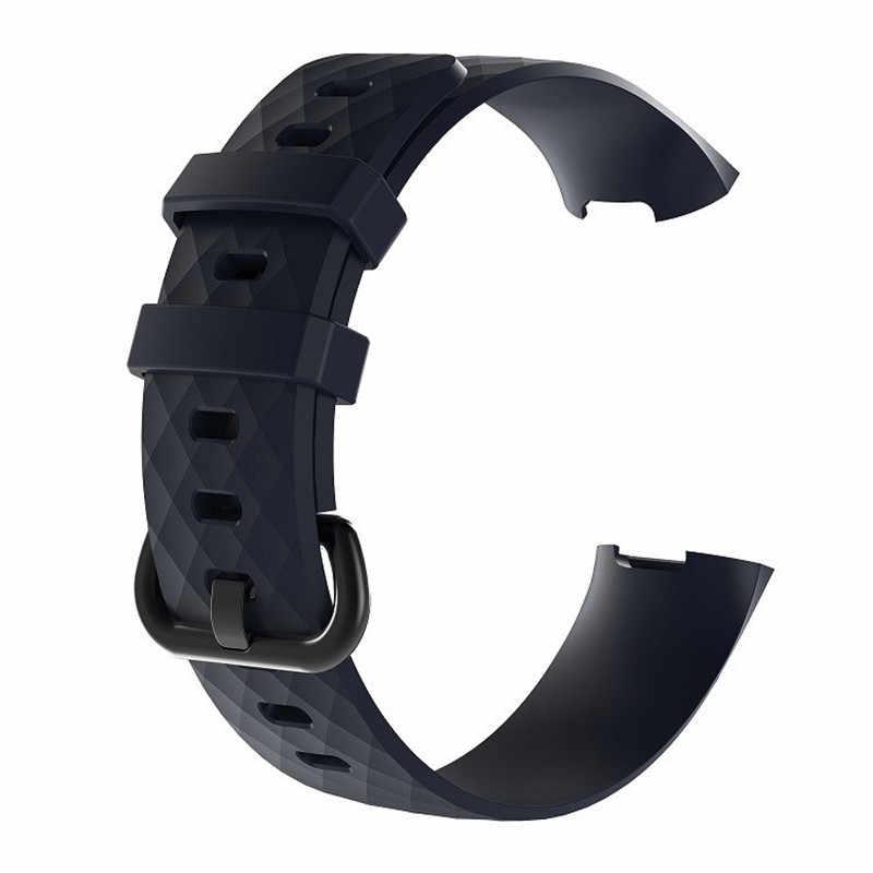 Sostituzione del Cinturino di Vigilanza impermeabile per Fitbit Carica 3/Carica 4 di Sport Del Silicone Wristband Della Fascia di Grande Piccolo Degli Uomini Delle Donne 9.28