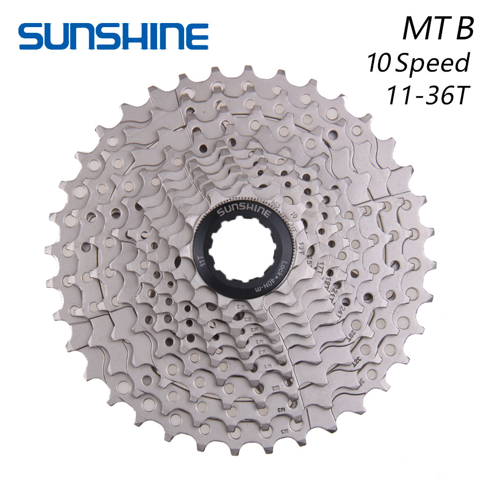 SUNSHINE 11-36T 10 Speed MTB Mountain Bike Bicycle Cassette Flywheel Sprockets Compatible with SHIMANO m590 m610 m675 m780 X7