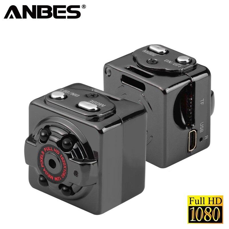 ANBES Mini Camera SQ8 HD 1080P Recorder HD DV Motion Sensor Night Vision Micro Cam Sport DV Wireless Camcorder Recorder