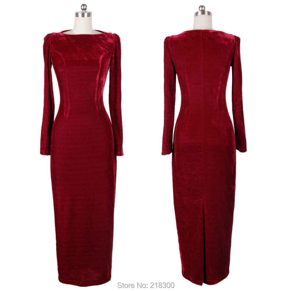 Modest Long Sleeve Burgundy Mother of the Bride Dresses