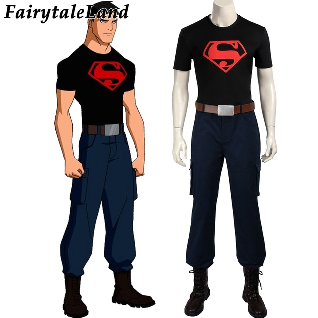young justice cosplay costume superboy cosplay costume carnival
