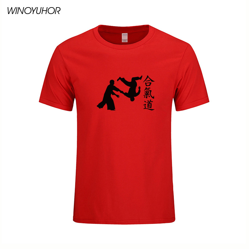 Aikido Martial Arts T-shirt Männer 2019 Neue Mode Kurzarm Oansatz - Herrenbekleidung - Foto 5