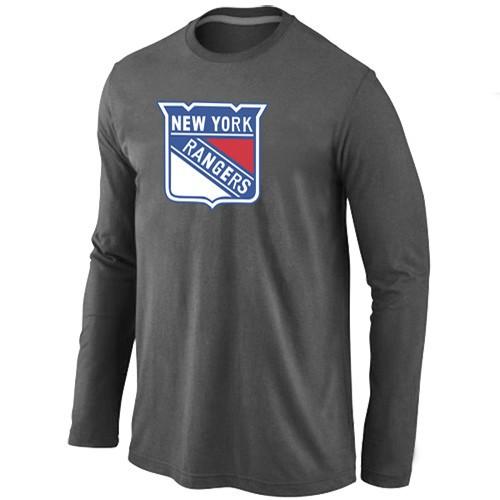 NHL New York Rangers Big & Tall Logo D.Grey Long Sleeve T-Shirt