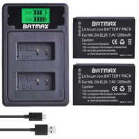 2 uds EN-EL20 es EL20 es EL20a batería + LCD doble USB cargador Puerto tipo C para Nikon Coolpix P1000 Nikon1 J1... J2... J3 Nikon1 AW1