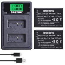 2 batteries EL20 EN EL20a + LCD, double Port USB type-c pour Nikon Coolpix P1000 Nikon1 J1 J2 J3 Nikon1 AW1