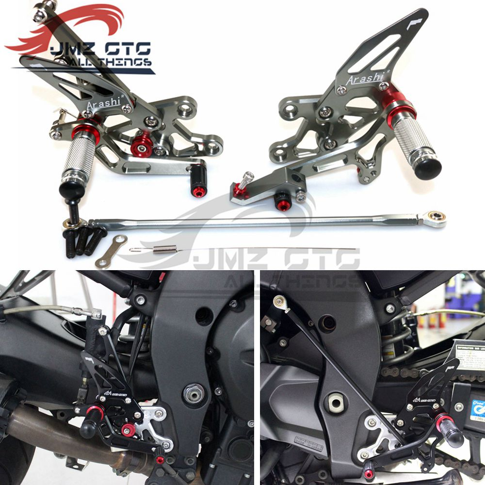 Motorcycle CNC Adjustable Rear Set Rearsets Footrest Foot Rest For  YAMAHA FZ1 2006 07 08 09 10 11 12 13  2014 FZ8  2010-2013
