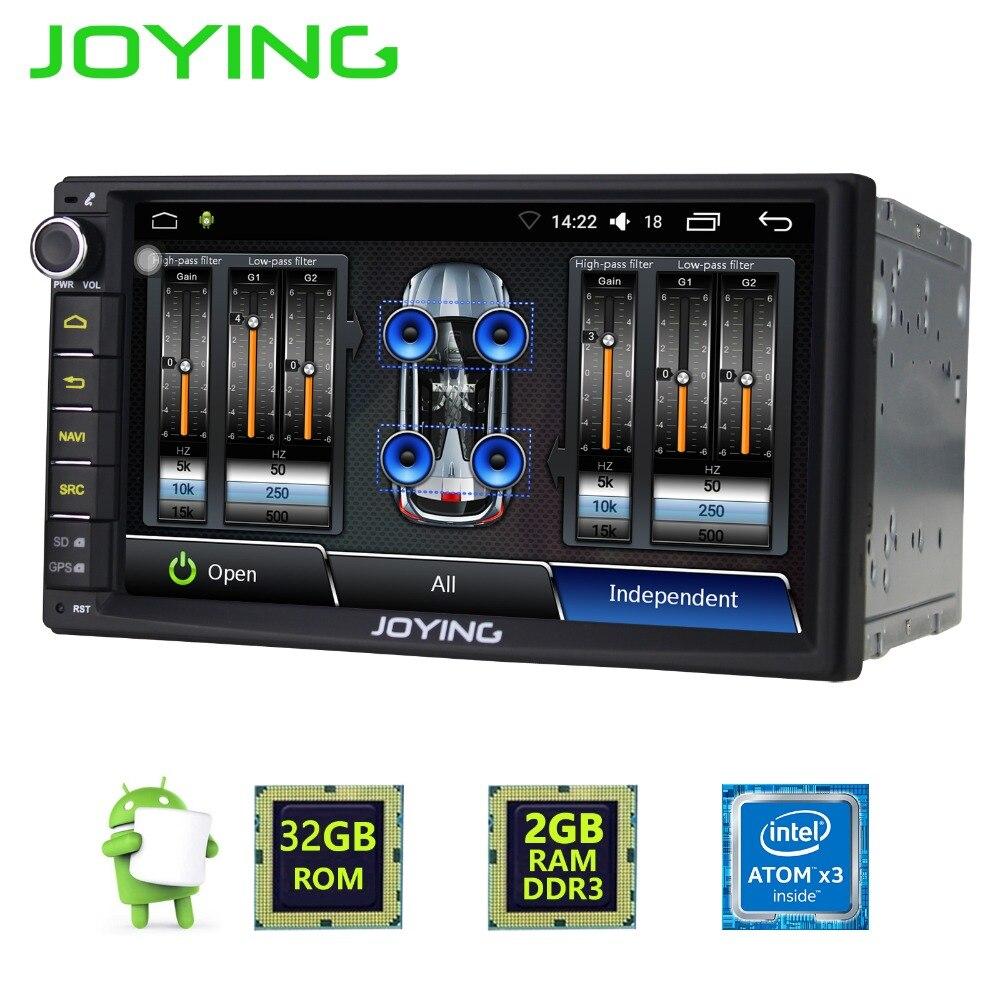 7 «радуясь 2 ГБ + 32 ГБ 2 din универсальный Аудиомагнитолы автомобильные стерео Радио Android 6.0 мультимедийный плеер GPS навигации со встроенным усил…