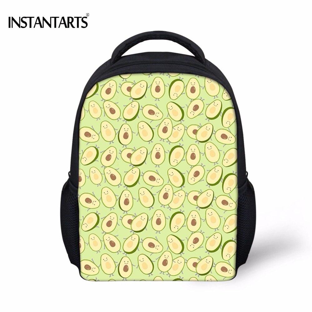 INSTANTARTS Kawaii с рисунками фруктов Vocado печати школьные сумки для девочек детский сад студентов мини ранцы Повседневное Детские рюкзаки
