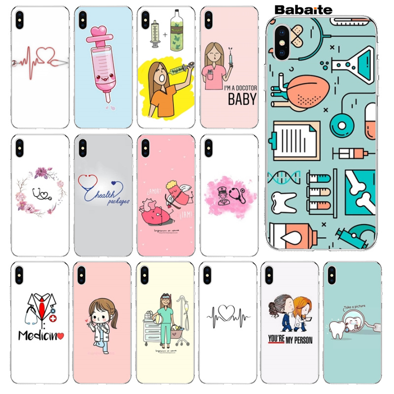 Sporting Babaite Cartoon Medicine Nurse Doctor Dentist Diy High-end Protector Phone Case For Iphone 8 8plus 5 5s 6 6s 7 7plus X Xs Max Xr Providing Amenities For The People; Making Life Easier For The Population Phone Bags & Cases Half-wrapped Case