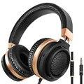 Sound intone c9 3.5mm wired fones de ouvido sobre a orelha fones de ouvido baixo estéreo com microfone e controle de volume para iphone android telefone