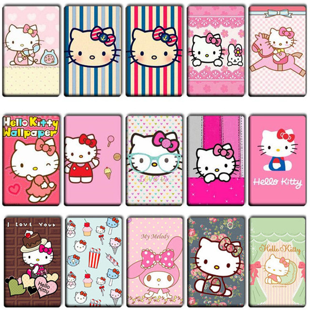 20 pcs lot lovely hello kitty stickers fashion toys cute anime cat totoro card stickers