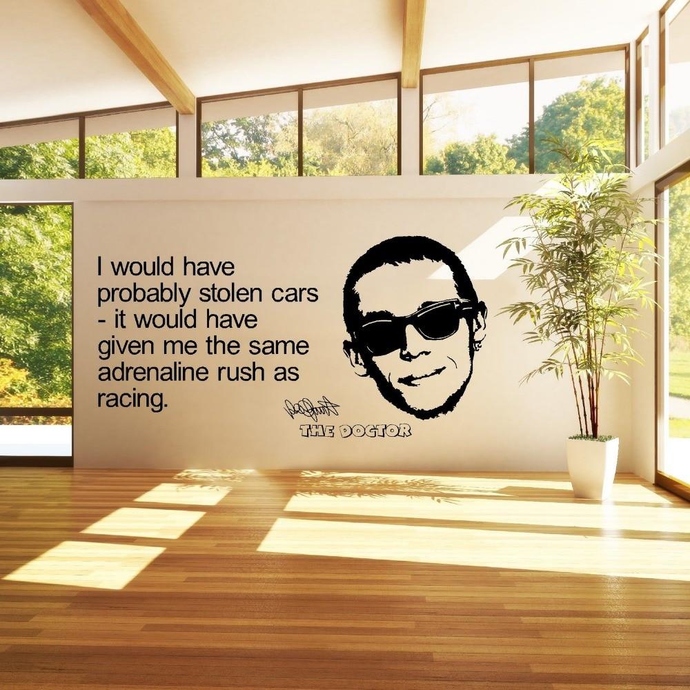 VALENTINO ROSSI 46 THE DOCTOR MOTO GP GARAGE vinyl wall art room ...