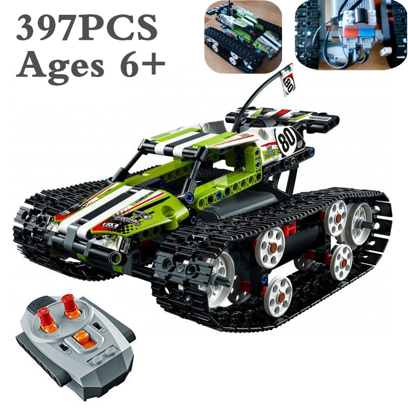 Decool Technic Series The RC Track Remote-control Race Car Set Building Blocks Bricks Educational Lovely Gifts Toys 42065 XD140 glow race track bend flex glow in the dark assembly toy 112 160 256 300pcs slot race track 1pc led car puzzle educational toys