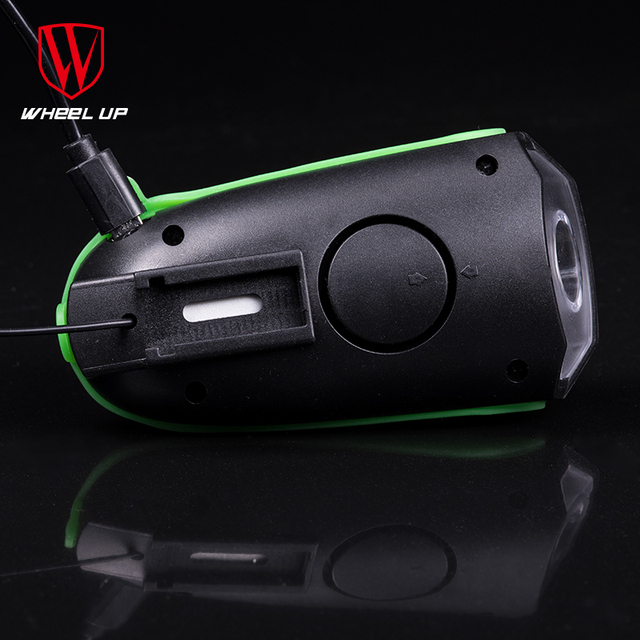 WHEEL UP USB Charging 240 lumen IPX4 Electric Horn Bicycle Night Riding Warning Horn Light Bike Head-light Bike Accessory 2017
