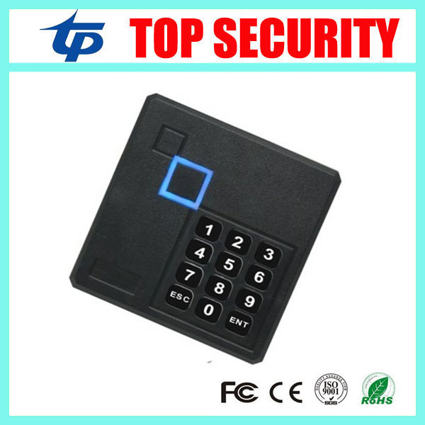 Free shipping 4 pcs a lot IP65 waterproof smart card access control card reader with keypad led light 125KHZ rfid card reader 125khz rfid card reader weigand26 card access control card reader with keypad ip65 waterproof card reader kr102 zk software