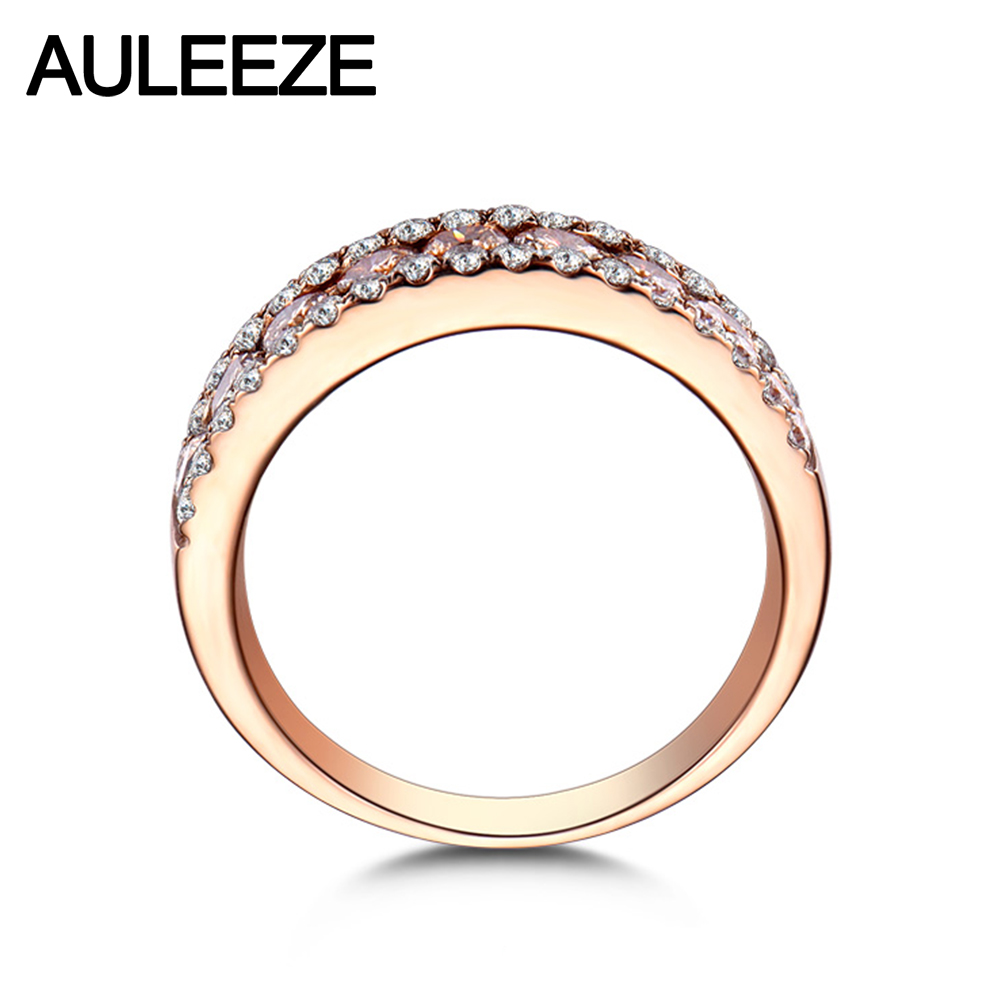 band tw in zigzag anniversary diamond multi bands ctw rose wedding gold row