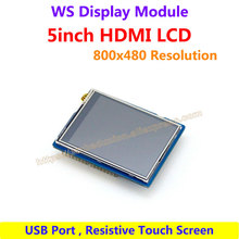 Raspberry Pi LCD Display 5inch 800*480 TFT Resistive Touch Screen drive Demo board HDMI Interface for All Rev of Rapsberry pi