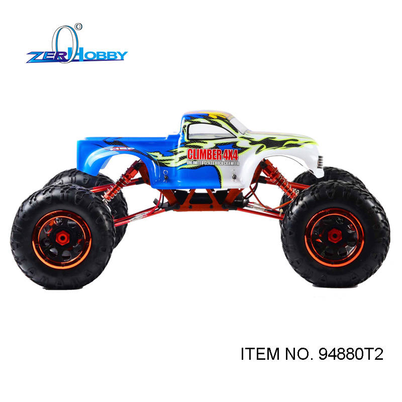 HSP RACING 1/8 SCALE 94880 94880T2 ELECTRIC POWER CLIMBER 4X4 OFF ROAD DUAL RC540 SIZE MOTOR ROCK CRAWLER 2.4G RADIO NO BATTERY hsp racing new design 945806 six wheeled rock crawler 1 5 scale electric power off road remote control car ready to run
