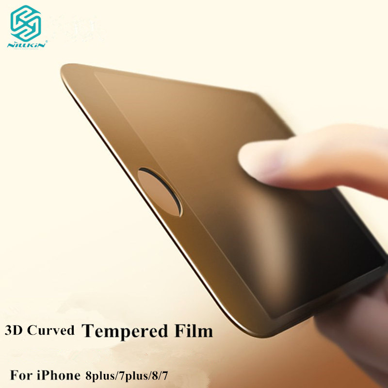 Nillkin 3D Curved Edge full cover Tempered Glass For <font><b>iPhone</b></font> 8 7 full screen tempered glass for <font><b>iPhone</b></font> 8 plus 7Plus with Retail