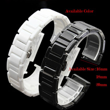 14mm 16mm 18mm 20mm New High Quality Black 100% Ceramic Watch Band Bracelet Fit Mens Lady Watch