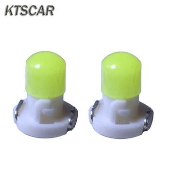 KTSCAR 100X 12V T3 COB auto coche led instrumento panel de bombillas Dash panel de luz indicadora bombilla blanca verde azul vehículo lámpara