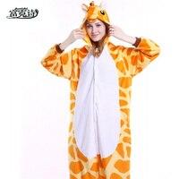 Autumn Winter Hot Flannel Unisex Adult Pajamas Lounge Wear Costume Animal Onesi Sleepwear Suit Home Clothing