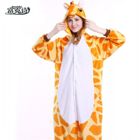 Autumn Winter Hot Flannel Unisex Adult Pajamas Lounge Wear Costume Animal Onesi Sleepwear Suit Home Clothing