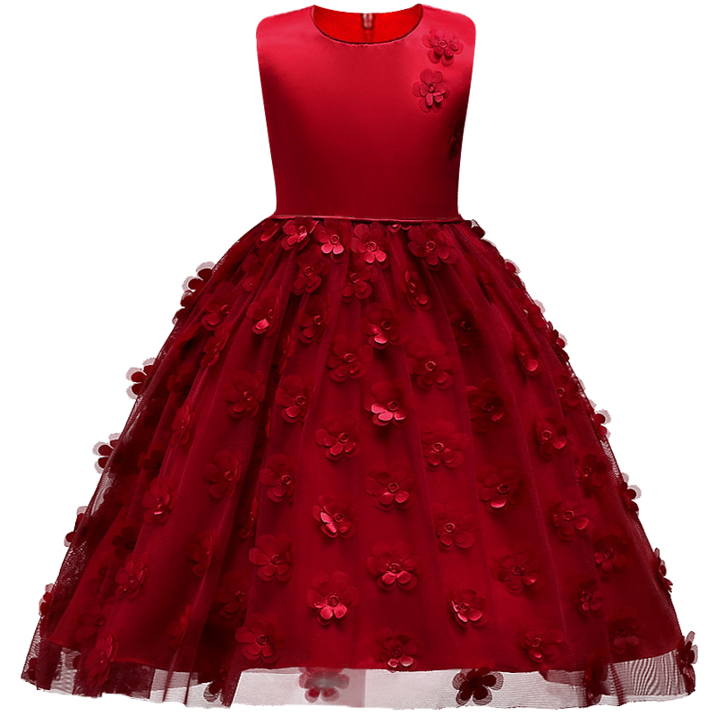 Kids Girl Ball Gown Dress for Toddler Girl Summer Lace Dress 2-8 Year Princess Birthday Party Dress Children Clothing цена