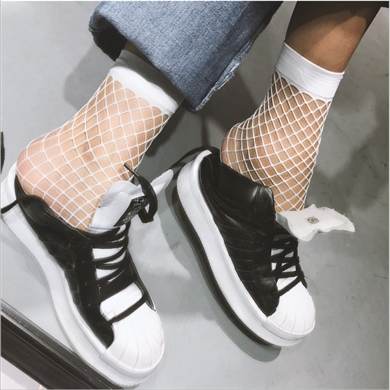 Women Girls See Through Casual Fishnet Ankle High   Socks   Ladies Mesh Lace Fish Net Short   Socks   2019 New