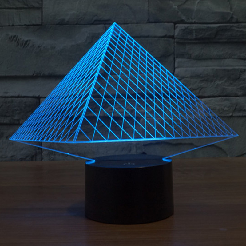 Innovating lighting Industrial Style 3d Led Lamp Light Usb Pyramid Night Light Colorful Night Lights For Wedding Deco Innovative Christmas Gift Present 3bl Media 3d Led Lamp Light Usb Pyramid Night Light Colorful Night Lights For