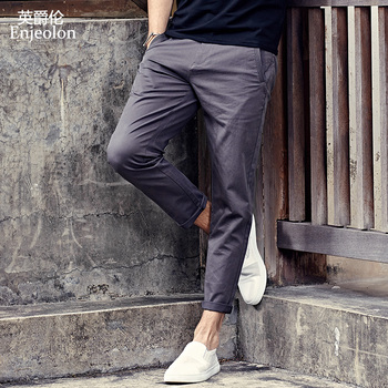Enjeolon Brand Long Trousers Pants Male Pencil Solid Casual Men Top Quality Clothing Causal Clothes K6226