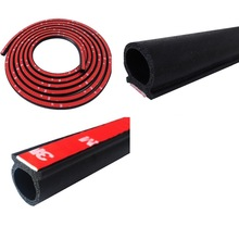 Weatherstrip Automotive Door Trunk Hood Sealing Strip 9mm x 11mm 12mm x 15mm Natural Rubber Dust Wind Water Sound Proof 2m Black