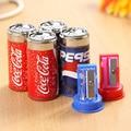 1pc Cute Mini Cola Pencil Sharpener With Eraser, Pencil Sharpener Student School Supplies