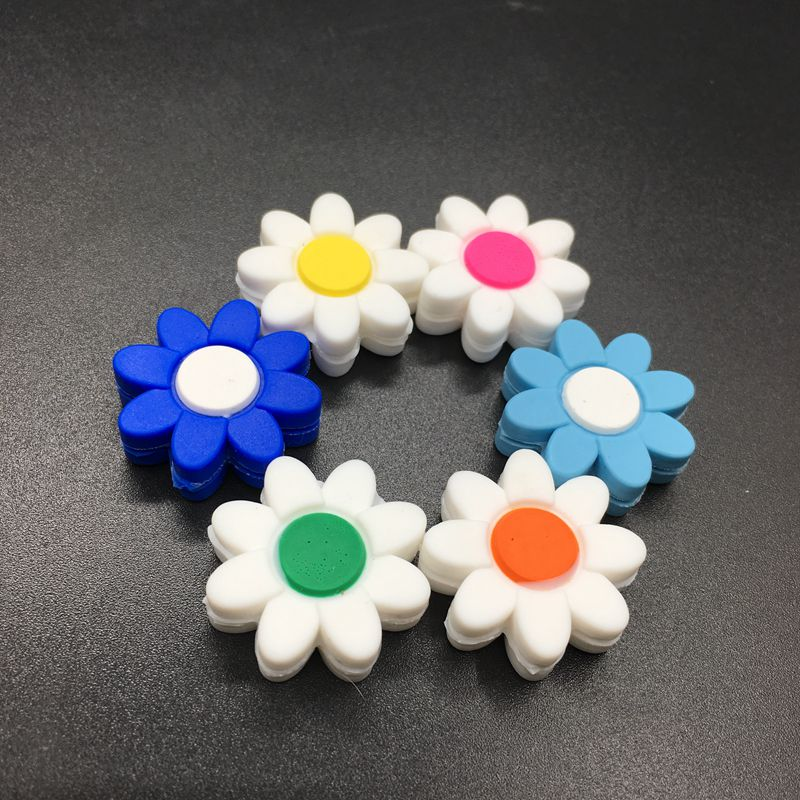 100 Pcs Silicone Flowers Tennis Damper Shock Absorber To Reduce Tenis Racquet Vibration Dampeners