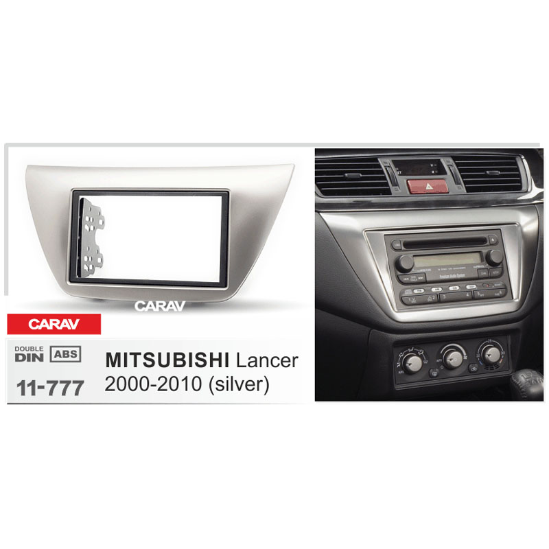 CARAV 11-777 Top Quality Radio Fascia for MITSUBISHI Lancer IX 2000-2010 Stereo Fascia Dash CD Trim Installation Kit
