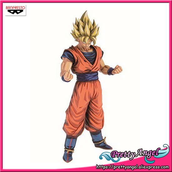 PrettyAngel - Genuine Banpresto Grandista Dragon Ball Z SUPER SAIYAN SON GOKU Manga Dimensions Collection Figure sale original banpresto ros resolution of soldiers grandista collection figure super saiyan son goku gokou dragon ball z 28cm