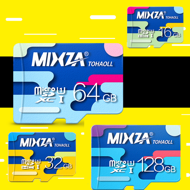 MIXZA Memory Card 128GB 64GB 32GB 16GB micro sd card Class10 UHS-1 8GB Class6 flash card Memory Microsd for Smartphone/Tablet
