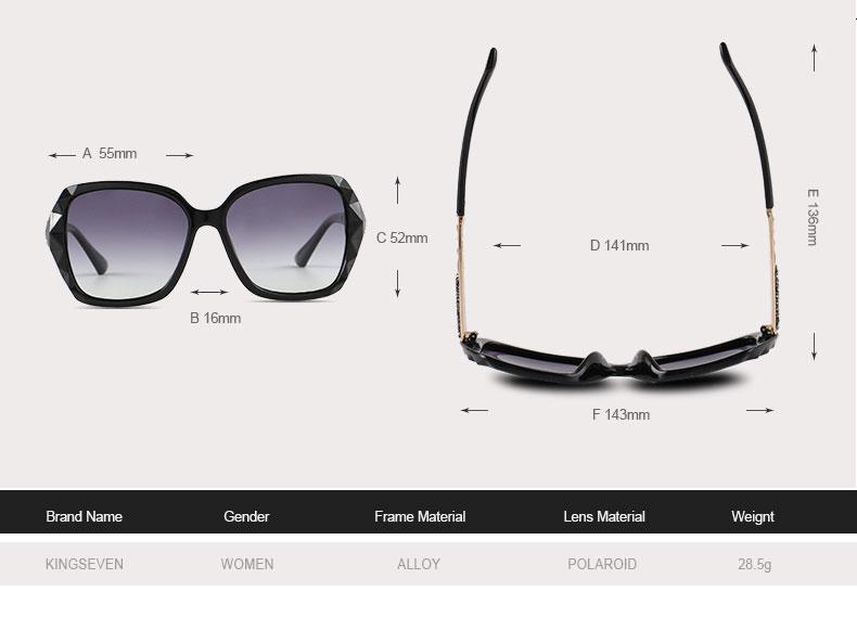 KINGSEVEN Sunglasses Women Gradient Polarized Diamond Frame Sun Glasses For Driving Luxury Lady Shades Eyewear Accessories 7538 2
