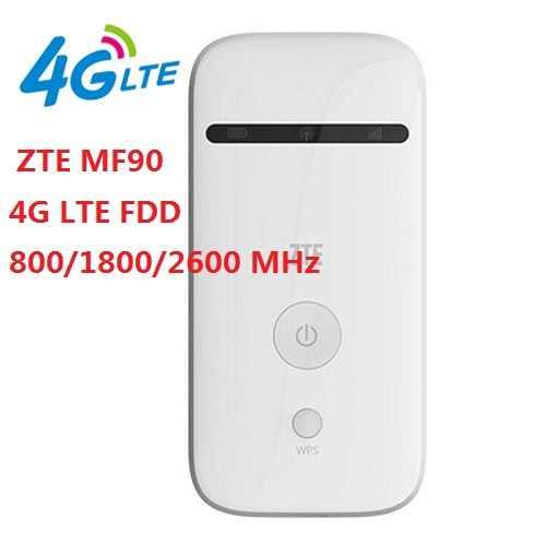 مقفلة zte MF90 MiFi 4g lte موزع إنترنت واي فاي LTE الجيل الثالث 3g 4g راوتر lte 4g راوتر لاسلكي المحمول واي فاي جيب واي فاي 4g موبايل mf90 + mf90c