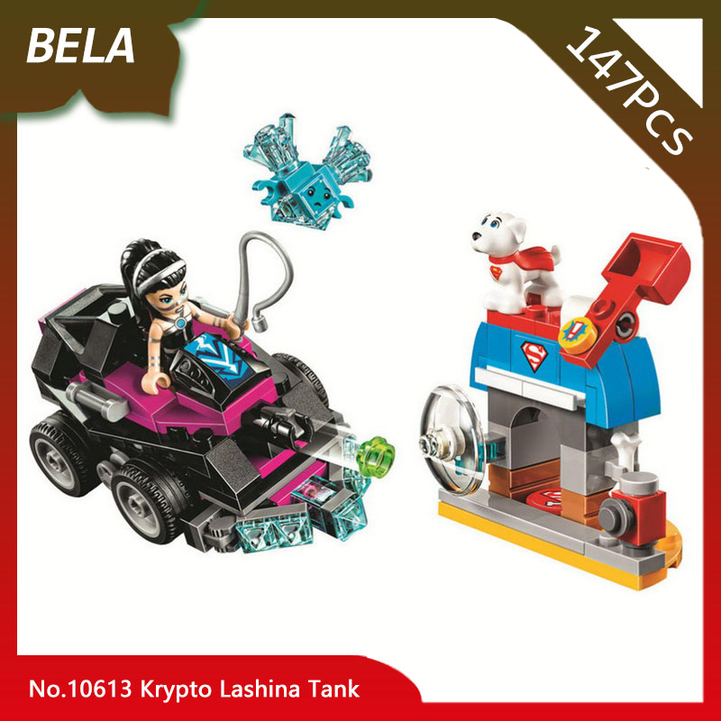 Bela 10613 Super Heros Girls 147pcs Krypto Lashina Tank Model Building Blocks Bricks Interested Toys For Children Gifts 41233