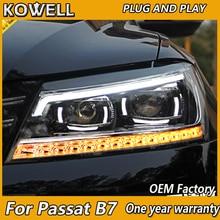 KOWELL 用カースタイリング VW パサート B7 ヘッドライト 2011 2012 2015 アメリカパサート CC LED ヘッドライト DRL バイキセノンレンズ高低ビーム