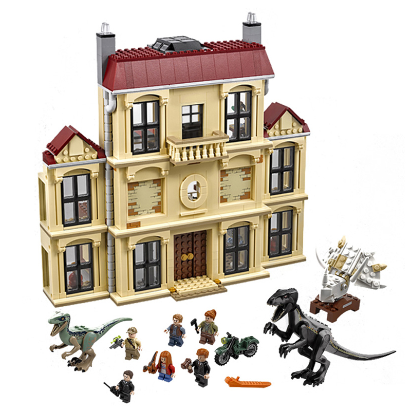 Jurassic World Dinosaur Indoraptor Rampage At Lockwood Estate Building Block Toys for Children Compatible 75930 10928(China)