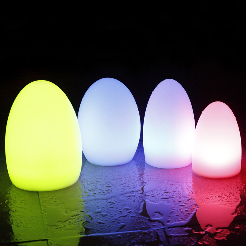 24Key Remote Control RGB LED Egg Bar Table Lamp Dining Room Rechargeable Decoration 16 Color Light Christmas Gift