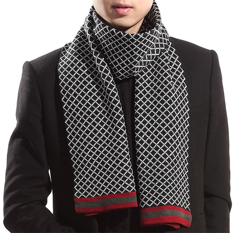 High Quality Fashion Men Scarves All Match Male Scarf Brand Long ...